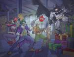 Batman Vs The Joker and Harley Quinn