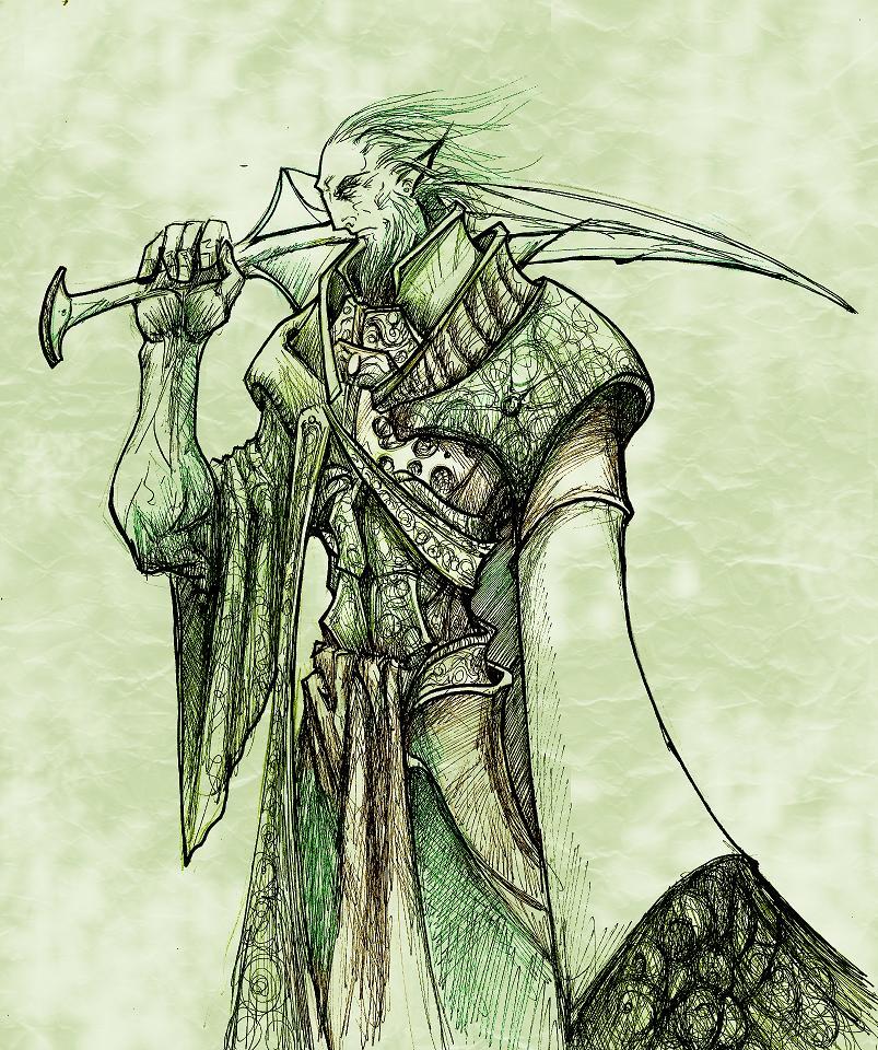 JUEGO DE MINIATURAS HAZTE TU BANDA Y JUEGA EN 2T Fingolfin__lord_elf_by_dogiimura