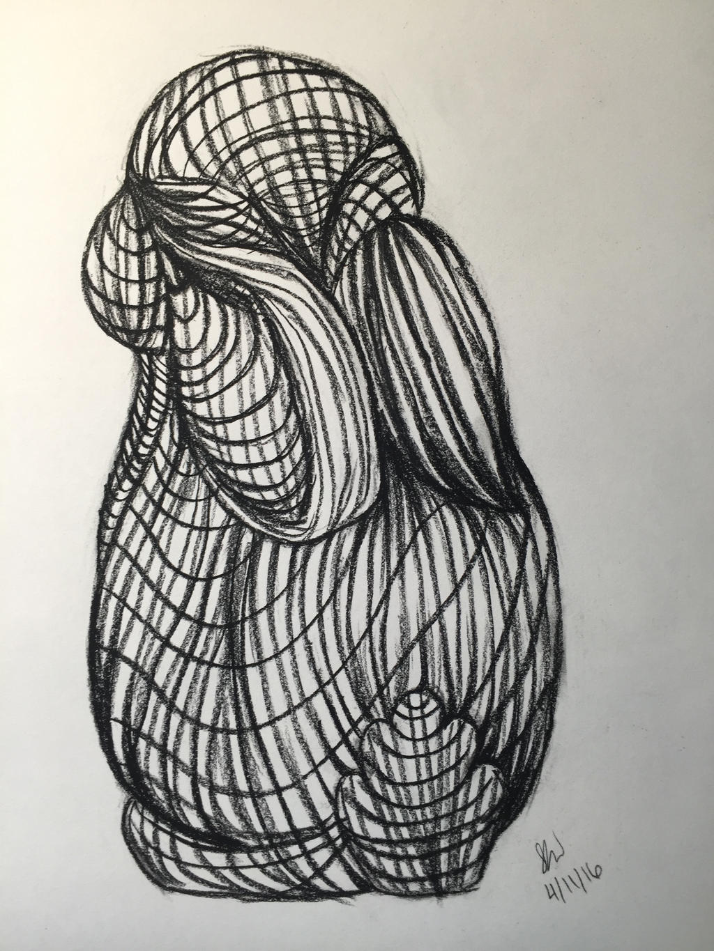 Contour Line Drawing Person : Contour lines bunny by rebbybear on deviantart