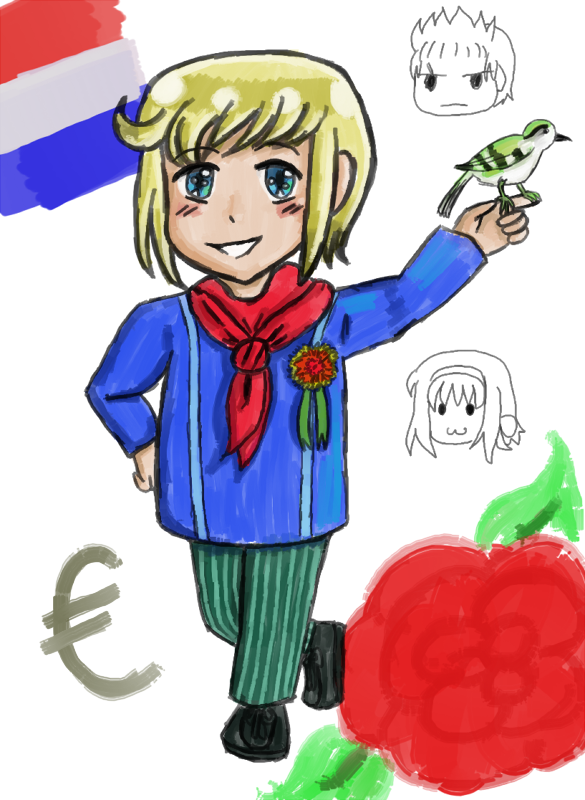 Luxembourg OC Chibi Thing by melonstyle
