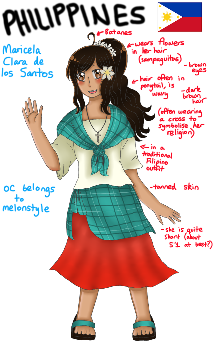 Updated Philippines OC design (reference) by melonstyle