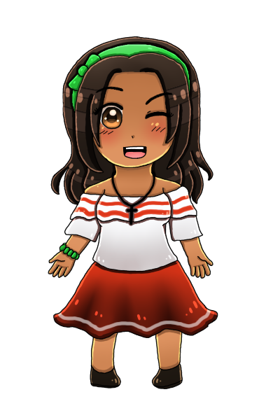 [HETAOC] Chibi Colombia (updated look) by melonstyle
