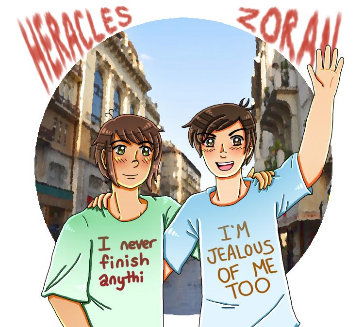 [APH] dorks in their dork shirts by melondramatics