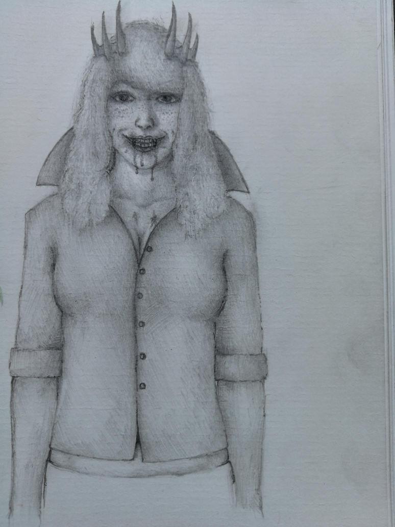 Vampire Sketch by Tyiphus