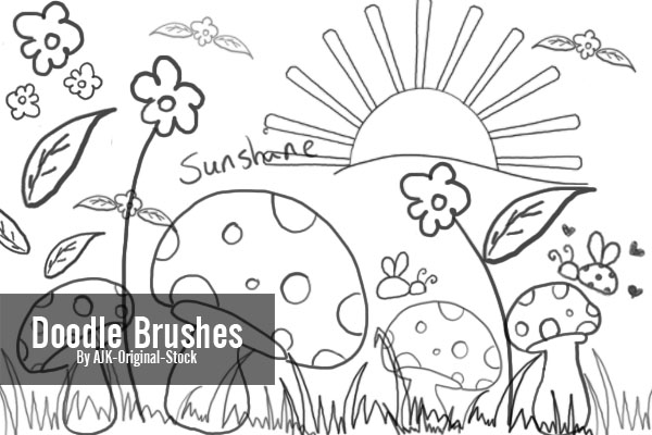 Doodle Brush Pack by brushgroup