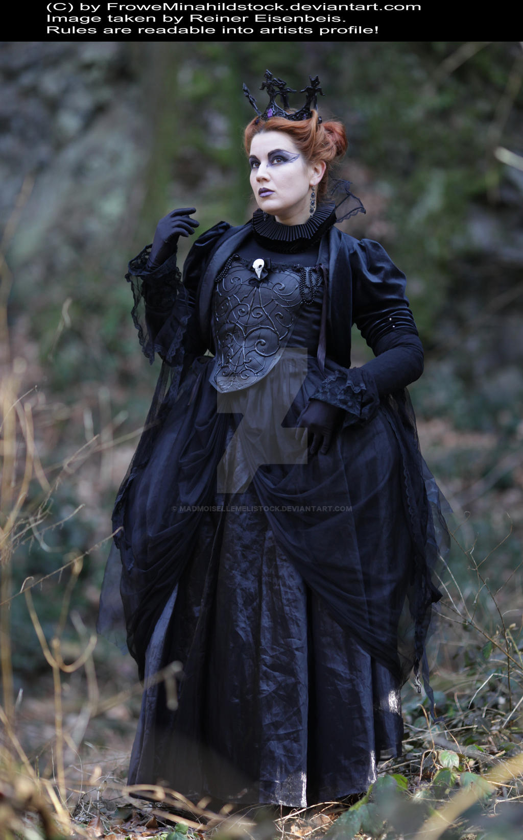 Evil Queen Gothic Stock 005 by MADmoiselleMeliStock