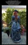 Blue dressed Victorian Lady