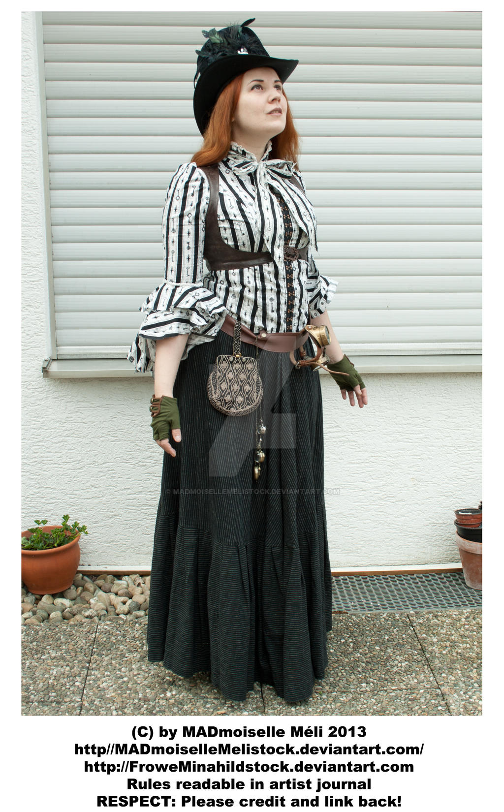 Steampunk Lady looking into the Sky STOCK by MADmoiselleMeliStock