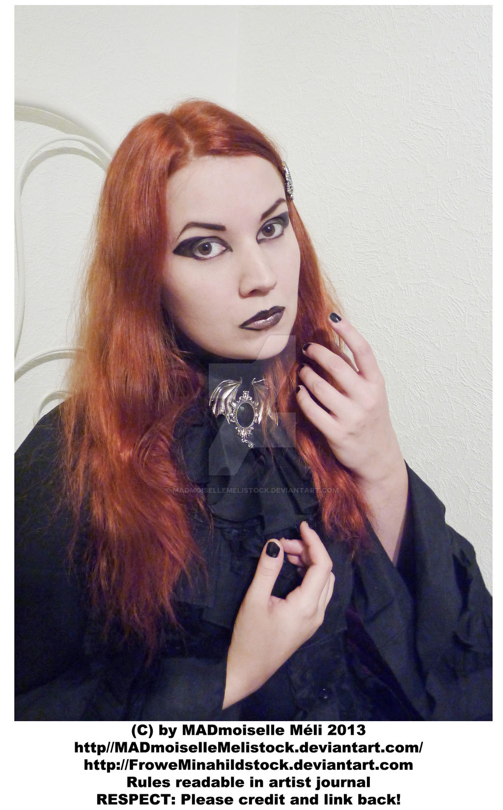 Gothic Girl Stock 001 by MADmoiselleMeliStock