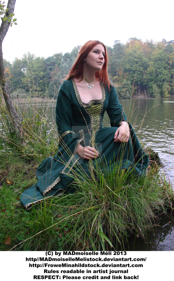 Avalon Medieval Autumn Girl Stock 001 by MADmoiselleMeliStock