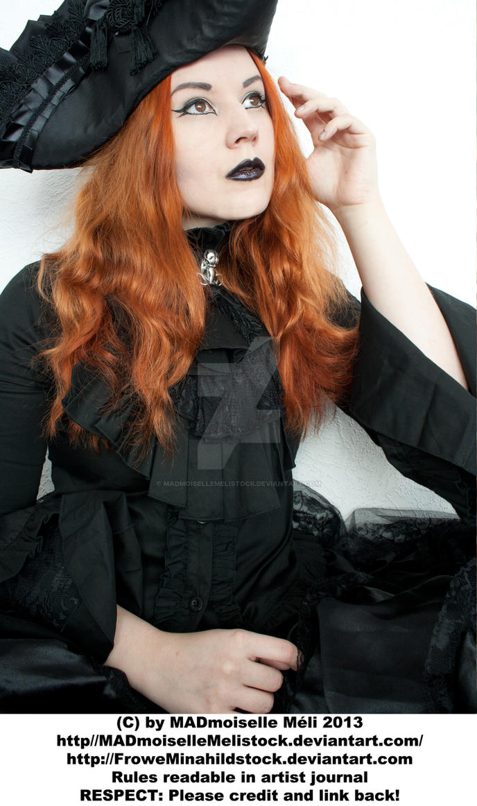 Female Gothic Aristocrat Stock 001 by MADmoiselleMeliStock