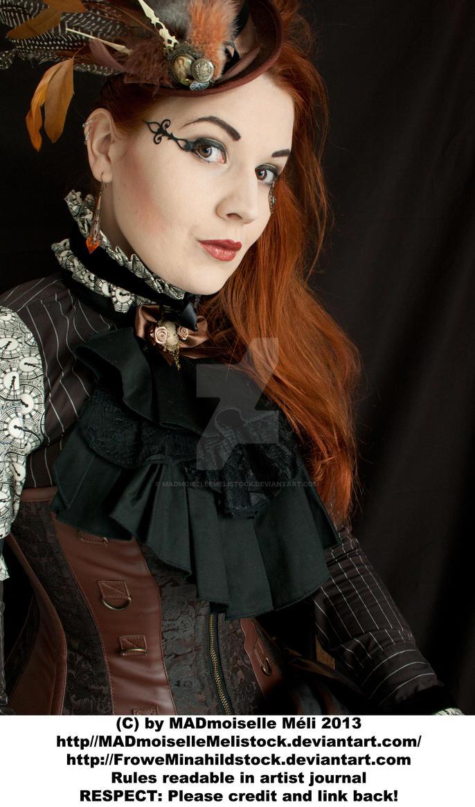 Steampunk Aristrocrat Lady Stock 001 by MADmoiselleMeliStock
