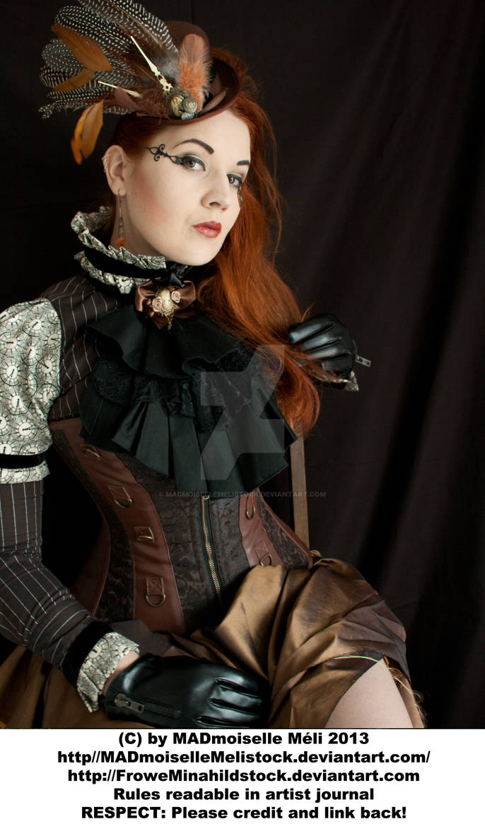 Steampunk Aristrocrat Lady Stock 002 by MADmoiselleMeliStock