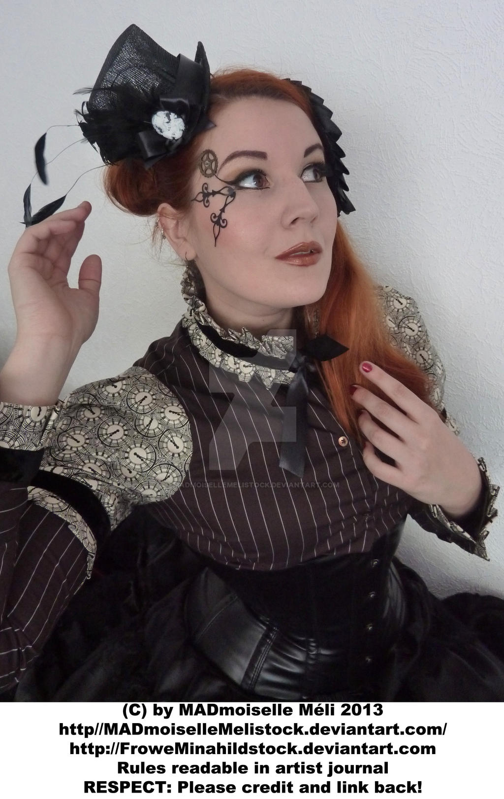 Steampunk Aristrocrat Lady Stock 004 by MADmoiselleMeliStock