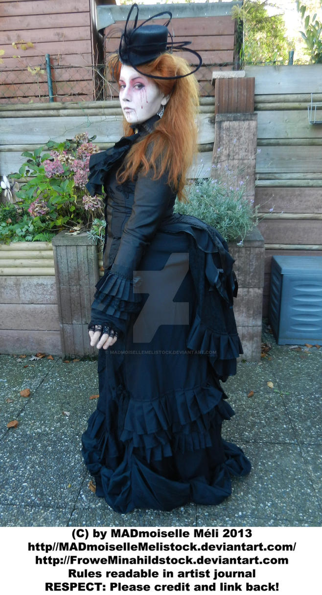 Black Victorian Widow Stock 001 by MADmoiselleMeliStock