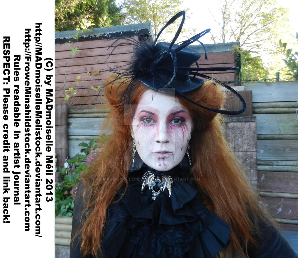 Black Victorian Widow Stock 002 by MADmoiselleMeliStock