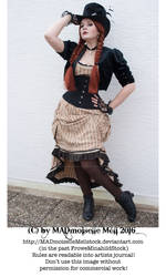 Steampunk Lady Stock 013 by MADmoiselleMeliStock