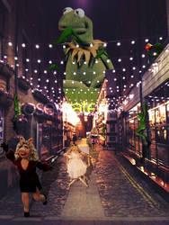 Kermit Photoshop by rosewaterr