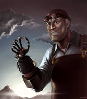 Team Fortress 2- The Engineer by OuterKast
