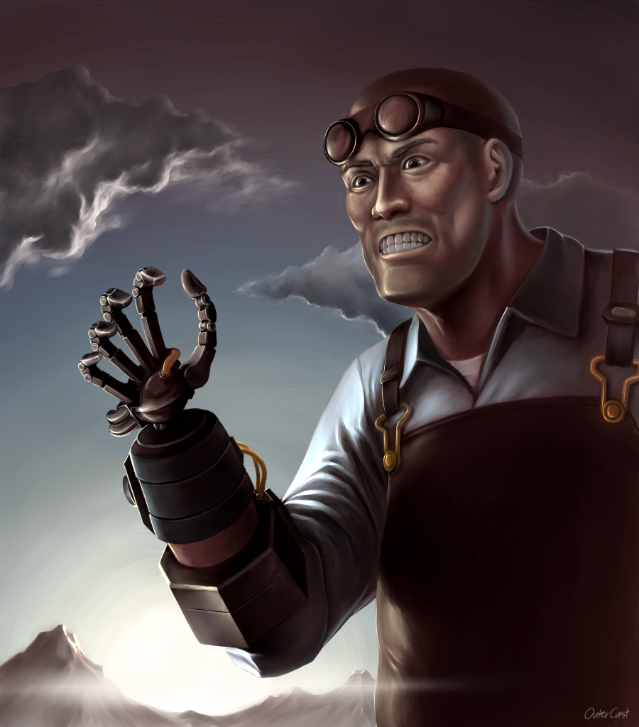 Team Fortress 2 The Engineer By Outerkast On Deviantart