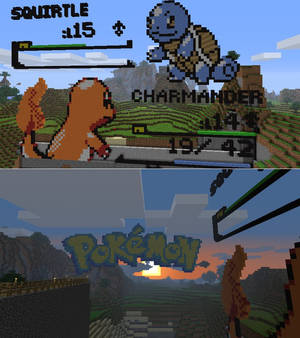 Charmander vs Squirtle Minecraft Battle