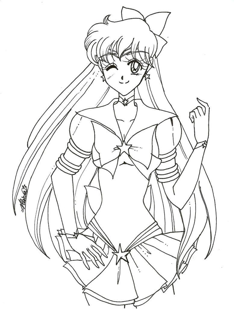 Wip eternal sailor venus by ilariasometimes on deviantart for Sailor venus coloring pages