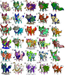 Free fox adopts (closed) by BirdLover213