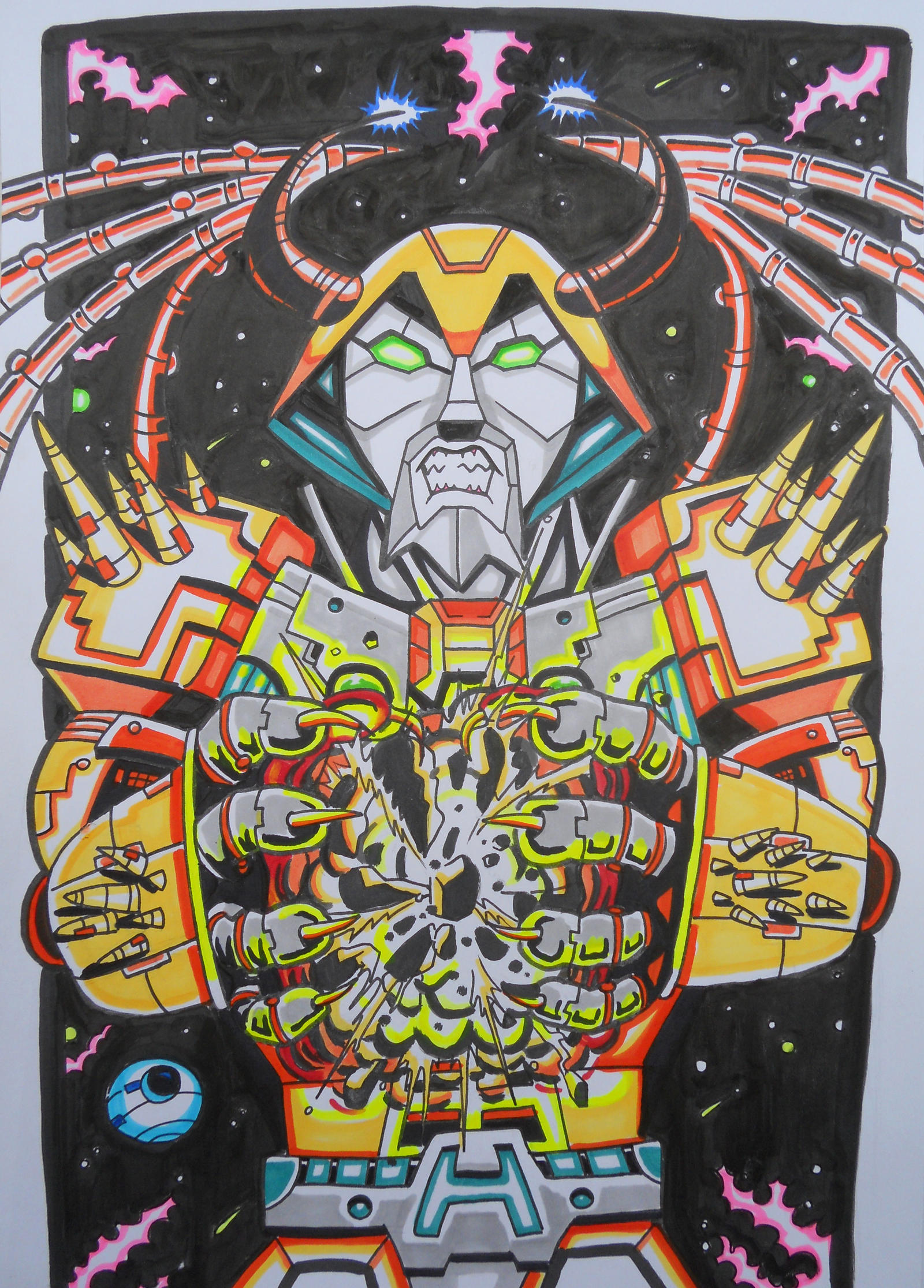 Unicron Metalworks by darkchapel666
