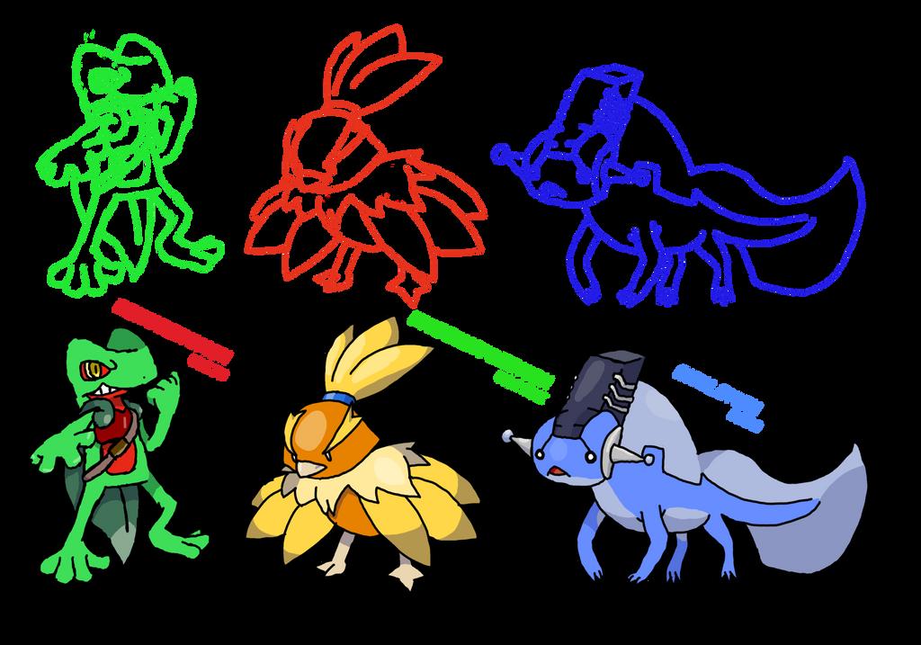 pokemon to digimon hoenn starters by wolfryhedgies on