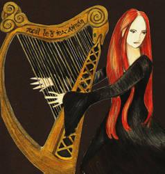 Celtic Harpist by IsMiseKate