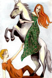 Oisin and Niamh by IsMiseKate