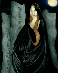Ogham Stone Druidess by IsMiseKate