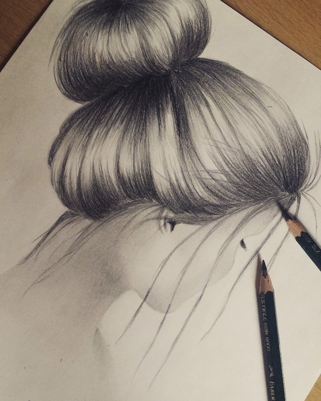 how to draw a girl with a messy bun step by step drive