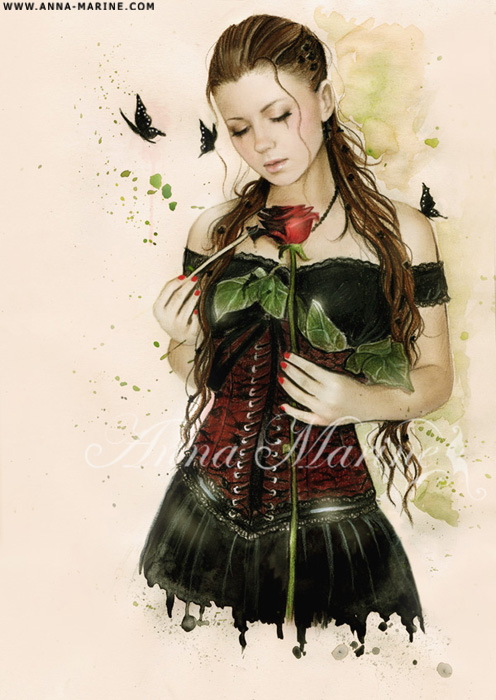 Paint my world in black by Anna-Marine