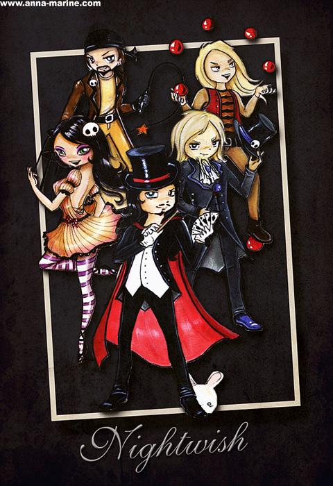 Imaginaerum cartoon heroes - design for Nightwish by Anna-Marine