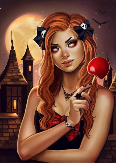 Halloween night by Anna-Marine