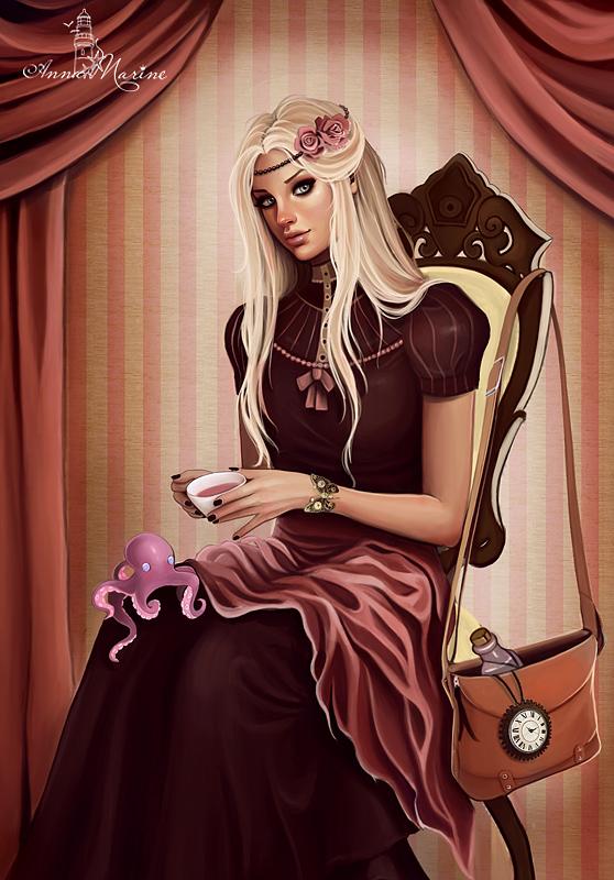 Pink tea time club by Anna-Marine