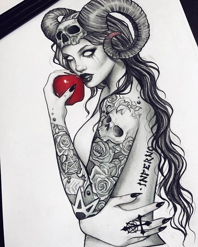 Devil in I (original sold) by Anna-Marine