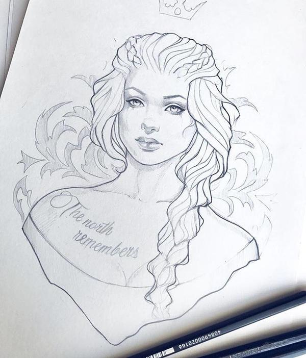 Sansa Stark wip by Anna-Marine