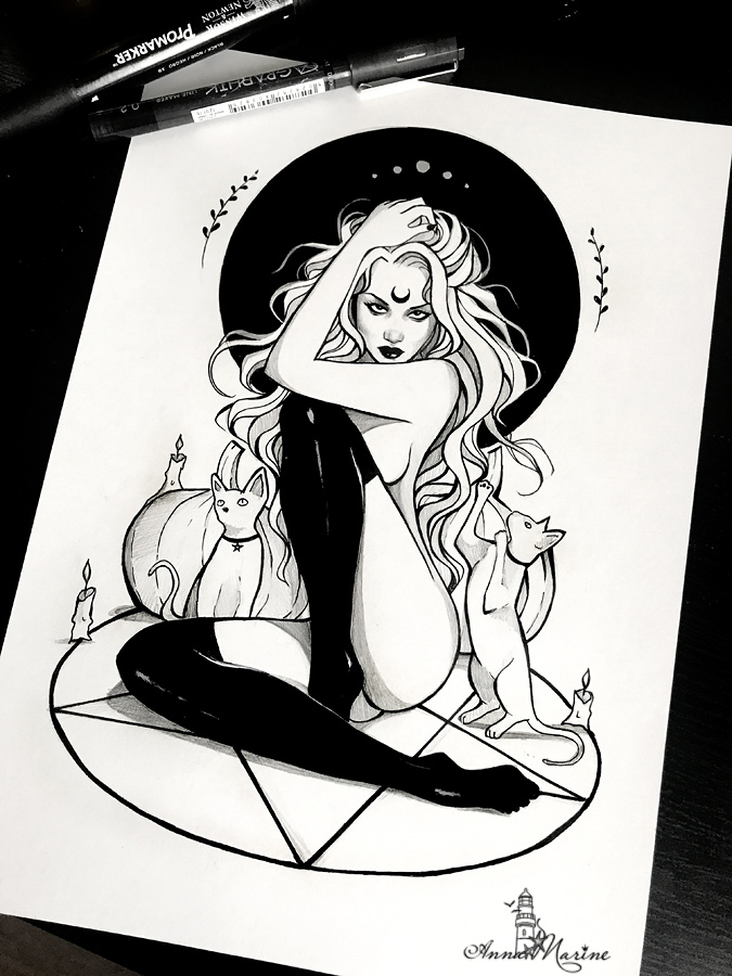 Inktober by Anna-Marine
