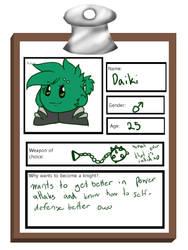 Knight School Application Sheet, Daiki by Tarulimint