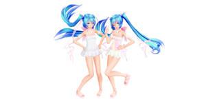 Tda Miku White Dress (Download model)