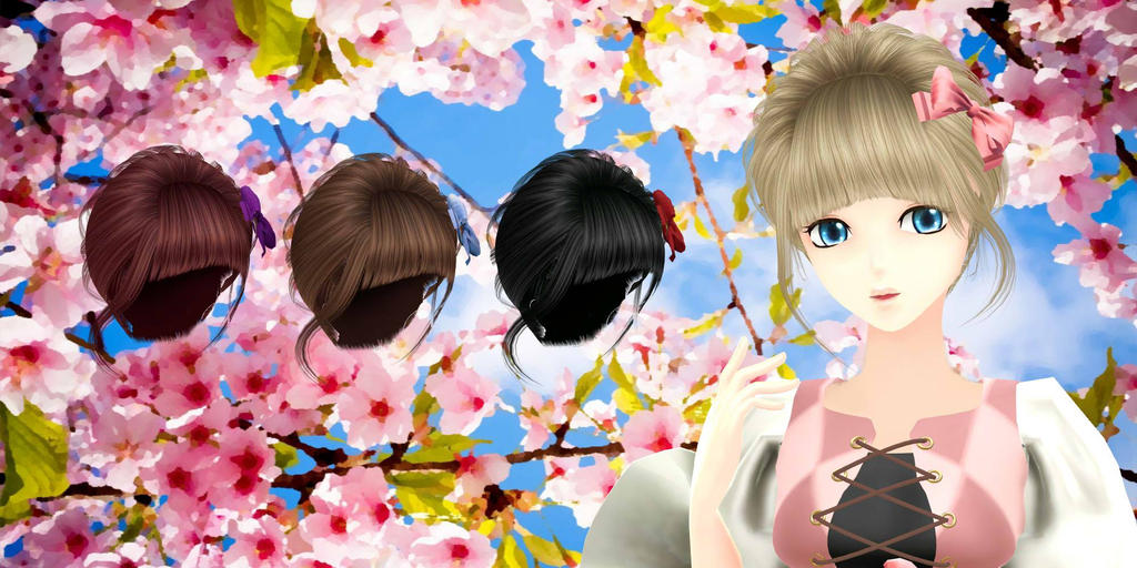 Classic rococo hair - DOWNLOAD by YamiSweet