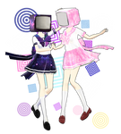 TV heads : Galaxy and Blossom (DOWNLOAD)