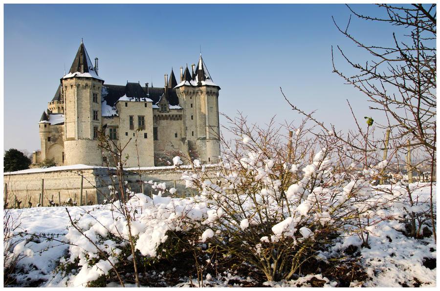 Chateau de saumur hiver by vogesen