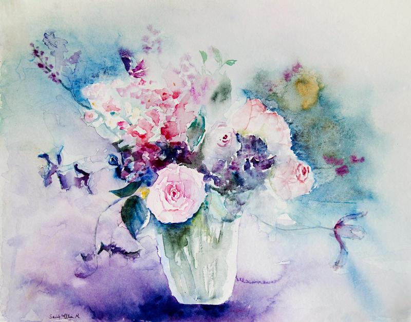 Bouquet rose et violet by vogesen