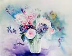 Bouquet rose et violet