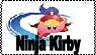 Ninja Kirby Stamp by CaptnColourman