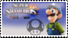 Luigi (Blue) Smash 4 Stamp by CaptnColourman