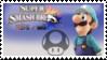 Luigi (Cyan) Smash 4 Stamp by DonkeyKongsDab
